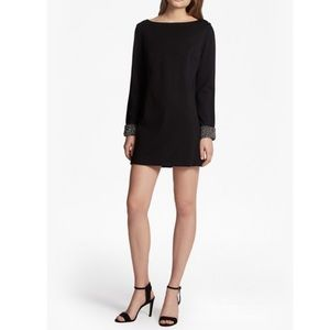 French Connection black Crystal Shot Tunic Dress 8
